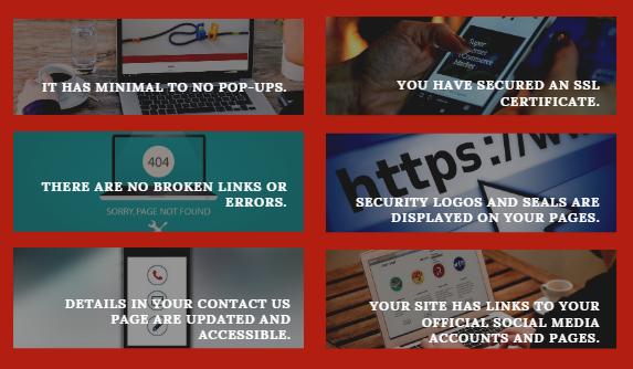 website look trustworthy